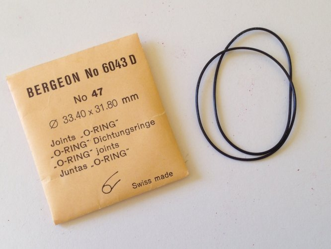 Assortimento O-RING Bergeon (Swiss Made) N.6043 NEW OLD STOCK